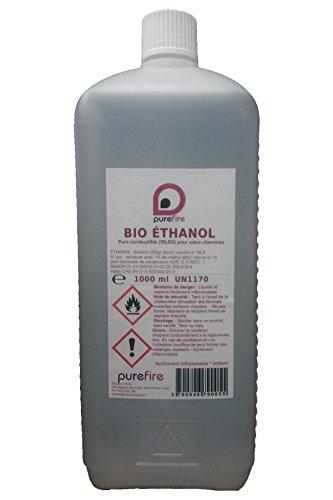 Purefire - Bioetanolo ad alte prestazioni, 1litro, puro al 99,8%, combustibile per caminetti mobili o esterni