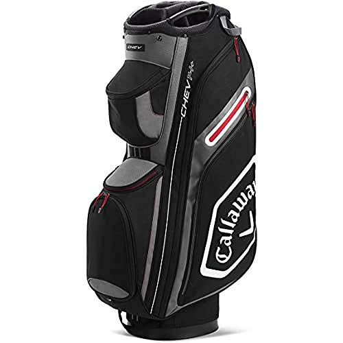 Callaway Golf Chev 14+ Cartbag 2020, Unisex, 2020 Callaway Chev 14+ Cartbag, schwarz/anthrazit, 5120007, Schwarz/Charcoal, Einheitsgröße