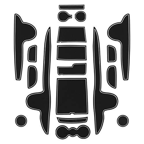 CDEFG für Santa Fe TM 2020 Gummimatten Auto Innere Türschlitz rutschfest Anti-Staub Becherhalter Matte Arm Box Aufbewahrung Pads Zubehör