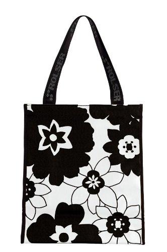 Rolser SHB005 Shopping Bag SHB, Design Flor, schwarz/Weiss