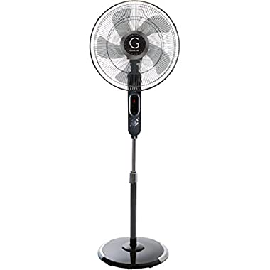 Avalon 16  Standing Fan with Adjustable Height Digital Display Oscillating 6 Speed Stand Fan