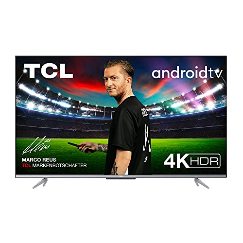 TCL 50P721 LED Fernseher 50 Zoll (126cm), 4K HDR, Ultra HD, Smart TV mit Android 11, rahmenloses Design (Motion Clarity, Game Master, Dolby Vision & Atmos, kompatibel mit Google Assistant & Alexa)