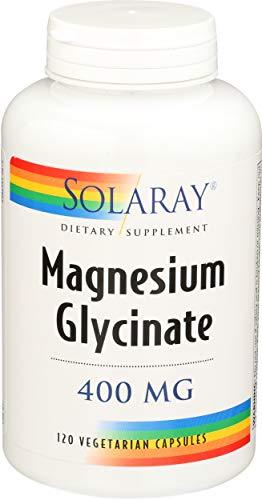 Solaray Magnesium Glycinate 400 Milligram | May Support Bone and Cardiovascular Health | Enhanced Absorption Vegetarian Capsules | Lab Verified | 120 VegCaps