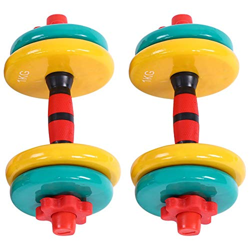 Dumbbell Set, Weight Adjustable Dumbbell Pairs Coated Non-Slip Colorful Removable Grip Hand Dumbbell for Women&Men Gym Home Workout Equipment Strength Lifting Dumbbells(44lb)