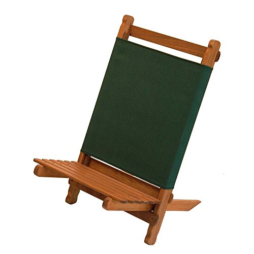 BYER OF MAINE, Pangean Lounger, Green, Durable Hardwood with Heavy Duty Polyester, Easy to Fold and Carry, Wooden Beach Chair, Camping Chair, Foldable Chair, Portable Chair, Pangean Furniture