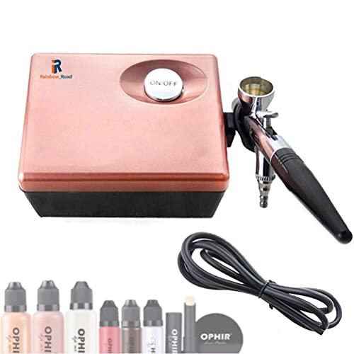Professional Airbrush Compressor Cosmetic Makeup set Spray Makeup Brush Gun Airbrush Kit for...