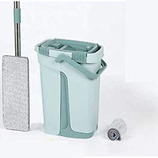 Mop Bucket with Flat Mop Suitable for All Types of Smooth Floors