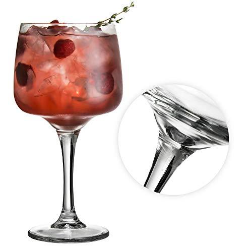 TUFF LUV El Fantastico Coupe de Verres Gin & Tonic Ballon Cocktail/Lunettes dans Une Boîte Cadeau [600ml]
