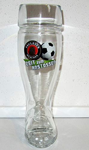 Paulaner Weißbierglas/Mini Stiefel/Zeit zum Anstossen/Limitiert/Bierglas / 1 x 0,5 Liter