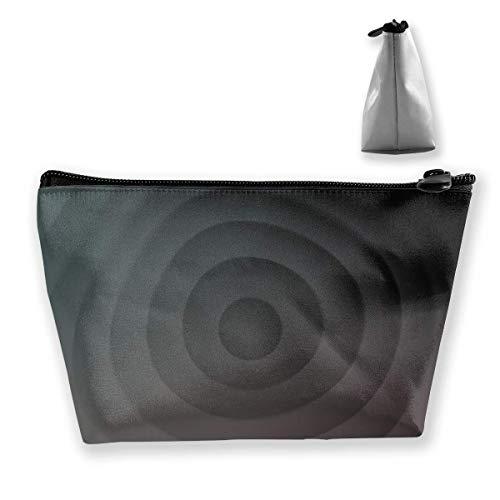 Gray Circle Digital Women Multifonction Toilette Organisateur Sacs Portable Sac de Voyage Capacité de Lavage avec Fermeture éclair (trapézoïdal)