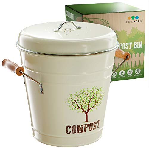 Best Bargain Third Rock Compost Bin for Kitchen Counter - 1.0 Gallon Compost Pail with Inner Compost...