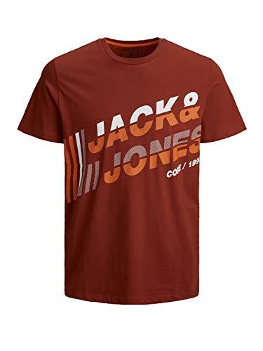 Jack & Jones JCOALPHA tee SS FST Camiseta, Red Ochre/Fit: Slim, M para Hombre