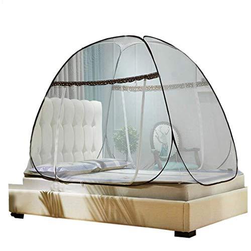 XF Folding Moskitonetz Pop Up Single Door-beweglichen Bett-Zelt Nets-Bett-Überdachung Einfache Einrichtung Bed Camping Prevent Insekt, for Innen und Außen (Größe : 150 * 200cm)