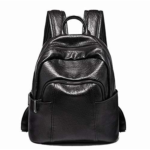 A-hyt Cómoda y práctica bolsa de hombro multifunción para mujer, fácil de caminar, color negro, tamaño: 27 x 14 x 30 cm