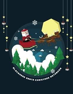 Blockhead Santa Christmas Notebook: Notebook for Kids featuring Blockhead Santa Claus and Reindeer