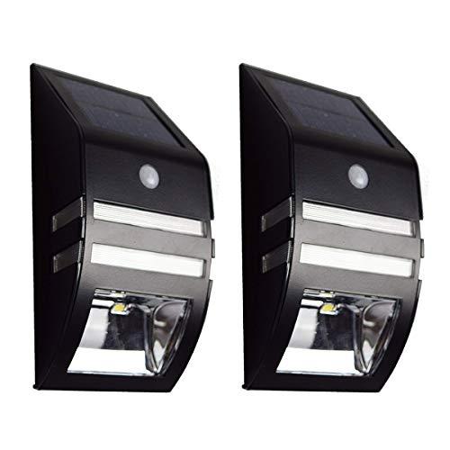 【ブラック 2個セット】ZAZ 屋外 LED センサーライト 太陽光充電 ソーラー充電 玄関 ガーデンライト 防水 IPX4 新型 明るさセンサー 人感センサー ソーラーライト 自動点灯 自動消灯 モーションセンサー y-56-black-2
