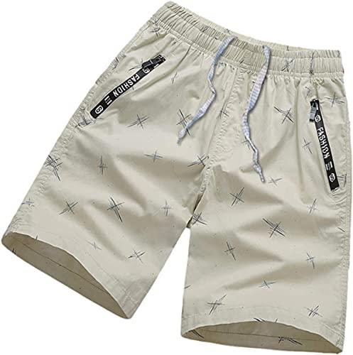 yixuwnuio Pantalones cortos de playa de verano para hombre Tendencia Relajada Simplicidad Moda costura Cremallera