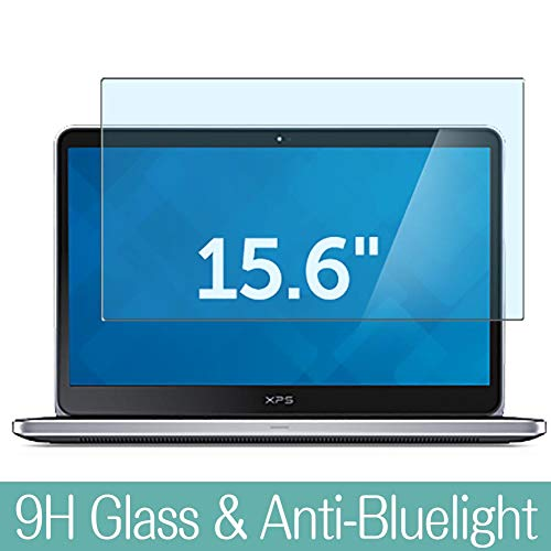 Synvy Anti Blue Light Tempered Glass Screen Protector for DELL XPS 15 L521X 15.6' Visible Area 9H Protective Screen Film Protectors