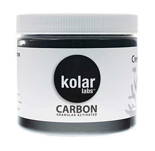 Kolar Labs Crystal Cal Activated Carbon – Small Jar, Activated Charcoal for Aquariums and Fish Tanks