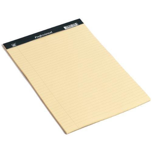 RHINO Legal Pad A4 50 Leaf 8mm Ruled & Margin Yellow Paper