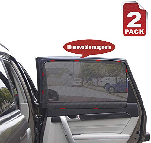 Heart Horse Car Magnetic Side Window Curtain 2PACK - Car Sun Shade, Summer Sun Block car Curtain,Car Side Rear Sun Shade , Baby Anti UV Curtain,in-Vehicle Privacy (Suitable for Back Window)