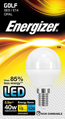 Energizer® LED-lamp, golfbalvorm P45 SES E14, 6 W = 40 W, G45/P45 SES, E14, Edisonfitting, 6500K, daglichtwit
