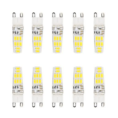 WELSUN 3W G9 SMD LED Ampoule T 16 SMD 5730 220 LM Blanc Chaud/Blanc Froid Etanches AC 100-240 V 10 pièces (Light Source Color : Blanc Chaud)