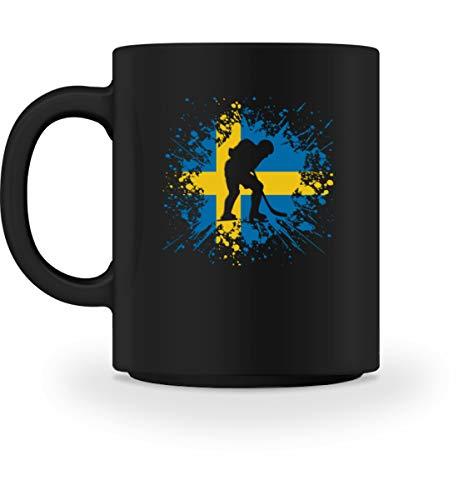 Generisch Eishockey Schweden Tasse   SE Eissport Länderflagge Splash Kaffeetasse