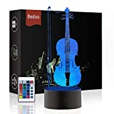 Bedoo Smart 3D Illusion Night Light Cool Dimmable 16 Color Changing Table Lamp Indoor Decoration Gift for Kids Musician