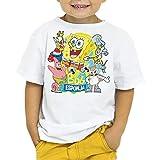 Camiseta Niño - Unisex Dibujos Animación Bob Esponja y Amigos (Blanco, 5 años)