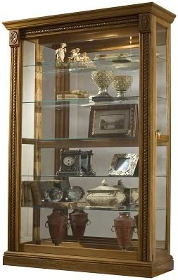 Pulaski Two Way Sliding Door Curio 43 by 17 by 80 Inch Medium Brown product image