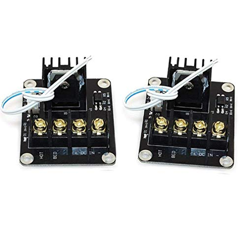 HiLetgo 2pcs 3D Printer Heat Bed Mosfet Heat Bed Power Module 3D Printer Expansion Board MOS Tube High Current Load Module