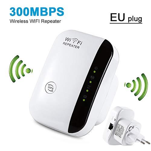 Qnotici Ripetitore WiFi/ripetitore WiFi AP 300Mbps di Rete WiFi Extender a Lunga Distanza Booster Access Point Booster
