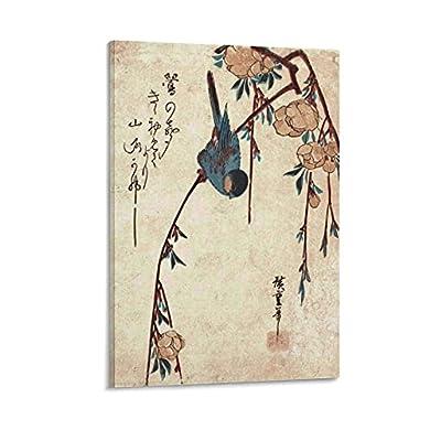 Foto di GOUWEI - Poster da parete WJF, arte giapponese vintage con piangere e uccello, stampa artistica da parete e poster da parete, 30 x 45 cm