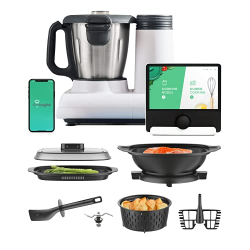 Multo By CookingPal, Smart Compact Countertop Multi-Functional Food Processor With Guided Recipes   WiFi Built-In   Chop, Knead, Steam And Cook All-In-One Cooker.