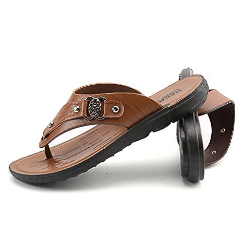 GDSSX Zapatillas para Hombre Sandalias de flamp-Flops de Verano A Prueba de Agua Wading Alojamiento Antideslizante Flip. Exterior (Color : Brown, Size : 39 EU)