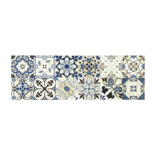 Tinked 1 pieza autoadhesiva Retro azulejos pegatinas impermeable PVC extraíble pegatinas de pared calcomanías DIY fondos de pantalla para cocina baño hogar protección ordenada FonPapel Tapiz Removible