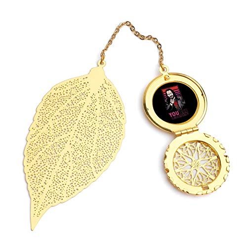 Keanu Reeves You are Breathtaking Meme Vintage and Beautiful Leaf Bookmarks, Metal Leaf and Exquisite Pattern Pendants