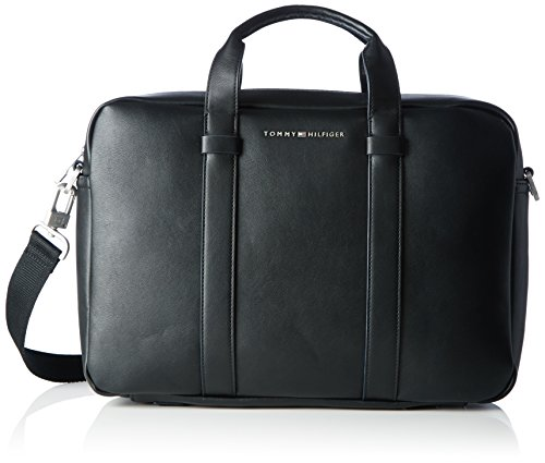 Tommy Hilfiger Herren TH CITY Laptop Tasche Schwarz (Black)