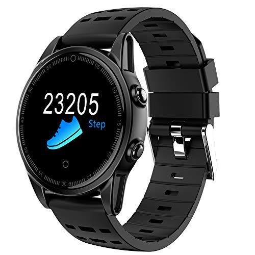 smart watch 2018, Fitness Tracker Ip67 wasserdichte Fitness-Uhr Mit Pulsmesser SchrittzäHler Musik FüR Android Und Ios - Sechs Stile Zur Auswahl