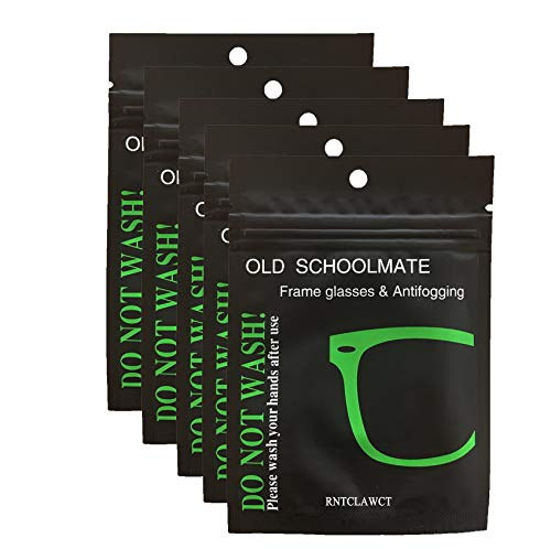 Anti-Beschlag-Tücher für Brillen, Anti-Beschlag-Objektiv-Reinigungstücher, wiederverwendbare Brillentücher für Objektive, Brillen, Telefon, LCD-TV-Bildschirme, Auto, Kamera (5 Stück)