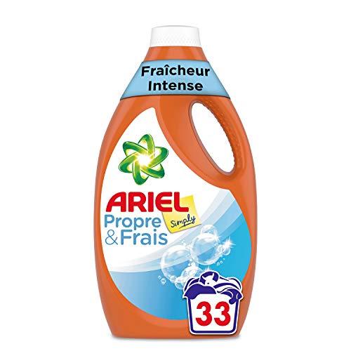 Ariel Simply Lessive Liquide Fraîcheur Intense Choix Économique, Les 33 Lavages, 1,81L