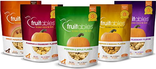 Fruitables Pumpkin Dog Treats, Variety Pack of 5