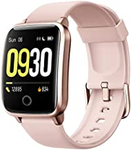 Willful Smart Watch for Men Women IP68 Waterproof, Fitness Tracker Heart Rate Monitor Sport Digital Watch, Smartwatch for Android Phones and iOS Phones Compatible iPhone Samsung (Pink)