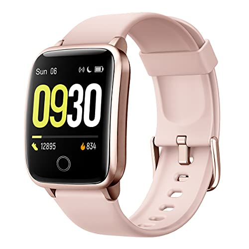 Willful Smart Watch for Men Women 2020 Version IP68 Waterproof, Fitness Tracker Heart Rate Monitor Sport Digital Watch, Smartwatch for Android Phones and iOS Phones Compatible iPhone Samsung (Pink)