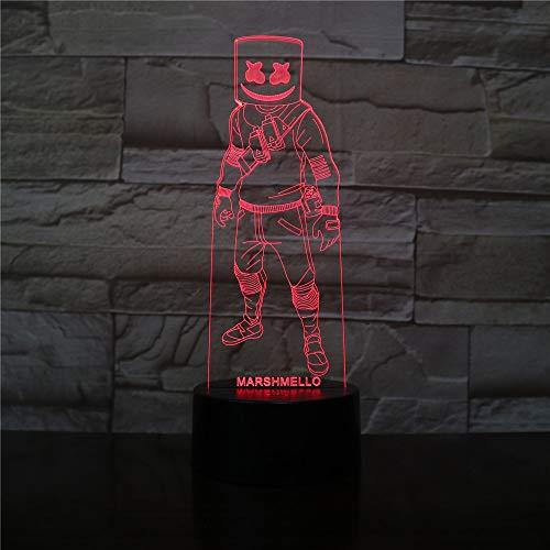 Imagen de la piel Luz nocturna Niños Decoración familiar Juegos para niños Lámpara de mesa 3D Regalo de algodón para niños Juego de azúcar LED