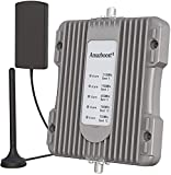Amazboost Cell Phone Booster for Car,Truck,Van,RV, SUV or Bus Support 5 Bands, Cell Phone Signal Boosters Apply to All U.S. Networks & Carriers -Verizon, AT&T Sprint T-Mobile | LTE 4G 3G 2G Signal