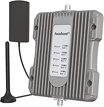 Amazboost Cell Phone Booster for Truck RV Car Bus or SUV 5 Bands Supports Cell Phone Signal Boosters Apply to All U.S Networks & Carriers -Verizon AT&T Sprint T-Mobile | LTE 4G 3G 2G Signal
