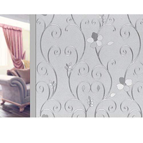 HLD Glas Mat Film Met Pattern Company Decoratief papier zelfklevend papier raamsticker Window deur en raam Film doucheruimte Startpagina Raamfoliën (Color : D, Size : 40x300cm)