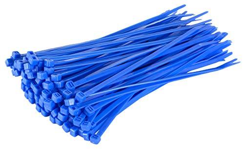 GTSE 100 Packung mit blauen Kabelbindern, 200 mm x 2,5 mm Premium-Kabelbinder, hochwertige Nylon-Kabelbinder